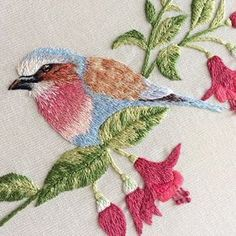 Agora com zoom pq eu amei mto! ❤️ #clubedobordado #handembroidery #handmade #broderie #embroidery #bordado