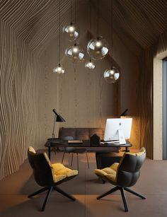 Eye-illusion of wall movement in the office  Możemy wykonać dla Ciebie taki projekt: zapraszamy na www.loftstudio.pl