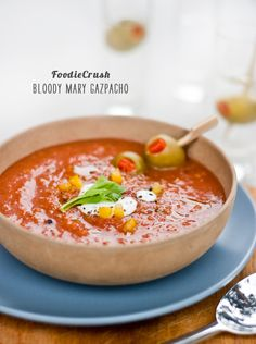 5 Gazpachos and a Bloody Mary Gazpacho #recipe on foodiecrush.com