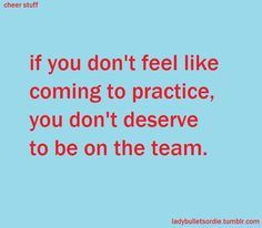 To all the girls on my fockey team who thought/think its just fine to miss a practice because 'whats the harm' you can ruin a practice because we might not have enough players to do the things we really need to do!