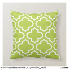Shop Moroccan Pattern Pillow in Citrus Green created by Richard__Stone. Lime Green Walls, Green And Orange, Shades Of Green, Lime Green Cushions, Green Pillows, Orange Office, Chartreuse Color, Moroccan Pattern