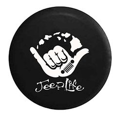 Jeep Hang Loose Hawaiian Jeep Life Island Style Spare Tire Cover OEM Vinyl Black 3031 in >>> See this great product. (This is an affiliate link) Jeep Wrangler Tire Covers, Jeep Wrangler Tires, Jeep Tire Cover, Jeep Tj, Jeep Wrangler Accessories, Jeep Accessories, Jeep Wheel Covers, Jeep Covers, Land Rovers