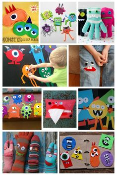 Monsters!! These monster crafts are perfect for any time of year - so fun!