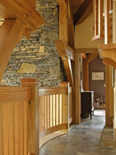 Samuelson Timberframe Design - Calgary, Bragg Creek Timber Frame Homes, Timber House, Timber Frames, Timber Staircase, Timber Ceiling, Bragg Creek, Art Niche, Steel Railing, Create A Family