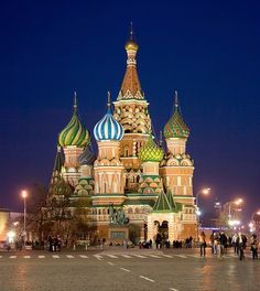 Cathedral of St. Basil the Blessed, Red Square, Kremlin, Moscow, Russia.