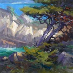 "Point Lobos by Richard Robinson  ~ 16"" x 16"""