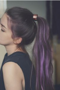 brown with purple ombre....fall hair color?!