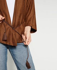 Image 6 of FLOWING JACKET WITH BELT from Zara
