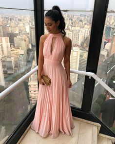 Simple chiffon long prom dress, chiffon pink bridesmaid dress, customized service and Rush order are available Prom Dresses For Teens, Cheap Prom Dresses, Homecoming Dresses, Bridesmaid Dresses, Formal Dresses, Formal Prom, Pink Evening Dress, Evening Dresses, Ball Gown Wedding