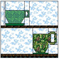 Here is a printable paper foundation pieced block: http://www.equilters.com/library/PFP/n_cupmug1.htm