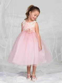 Coral Colored Flower Girl Dresses