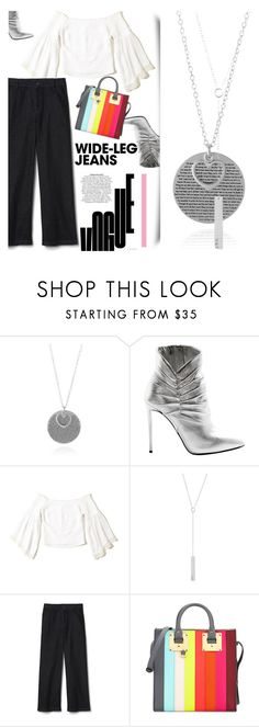 """""""SINCERELY SILVER contest"""" by gina-m ❤ liked on Polyvore featuring Giuseppe Zanotti, Hollister Co., Gap, Sophie Hulme, contest, fashionset, denimtrend, widelegjeans and sincerelysilver"""