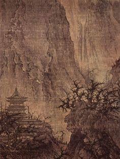 Buddhist Temple in the Mountains, 11th century, ink on silk, Nelson-Atkins Museum of Art, Kansas City (Missouri).