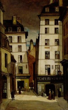 Old Paris c.1910 by Sir D.Y.Cameron (Scottish 1865-1945)