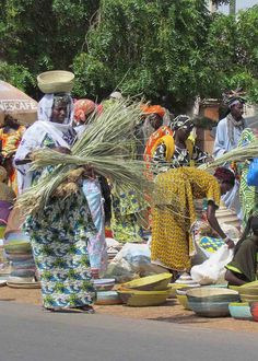 Woman at a basket market in Senegal. #africa