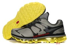 Nike Air Max 2012 Leather Metallic Sivler Black Yellow