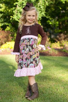 ST Harper Brown Paisley Dress – Southern Tots