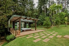 If you've been thinking about adding a stunning terrace to your garden, this is the perfect article for you! Jacuzzi, Spas, Gazebo, Garden Design, House Design, Interior And Exterior, Outdoor Gardens, Improve Yourself, Outdoor Structures