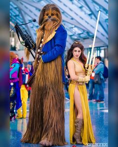 Jedi Belle and Chewie The Beast