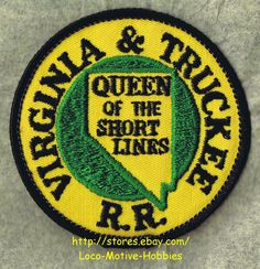 LMH PATCH Badge  VIRGINIA & TRUCKEE Railroad  V&T VGTRR QUEEN of SHORT LINES usd picclick.com