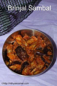 Brinjal Sambal | Sambal Eggplant | Sambal Terong » Nithya's Corner