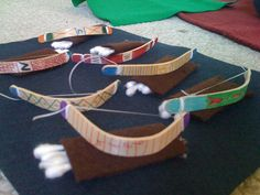 Isaac had fun making these as gifts for his friends. Bow & arrow with q-tips and popcicle sticks