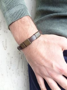 Excited to share the latest addition to my #etsy shop: Men Thick Leather, Leather Cuffs, Leather Men, Brown Leather, Evil Eye Bracelet, Leather Fashion, Bracelets For Men, Fathers Day Gifts, Gifts For Him