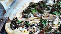 Pizza med grønkål