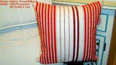 Chenille vertical stripes contemporary 18x18 pillow by SABDECO, €26.00