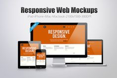 12 Responsive Web Mockups ~~ This pack allows you to display you designs with 12 different Design Layout.This pack ideal for responsive web design showcase,Apps Design etc.Pack Contains iMac,iPhone,iPad,Macbook   In This Pack You Will Get : 12 Responsive Presets (2100×1500px) 6 smart