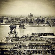 Budapest and Chain Bridge after the war in 1945 – sad but amazing picture