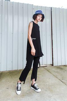 Get this look: http://lb.nu/look/8267701  More looks by Miriam Mibao: http://lb.nu/miriammibao  Items in this look:  Joe Meet Spike Tank Top, Joe Meet Spike Pants   #casual #minimal #street