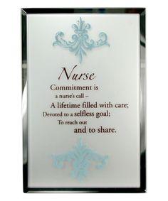 Another great find on #zulily! 'Nurse' Mirror Plaque #zulilyfinds