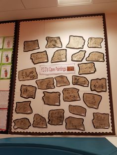 Cave painting pictures using brown parcel paper and charcoal. Children really enjoyed creating a story with their artwork. Painting Pictures, Pictures To Paint, Parcel Paper, Cave Painting, Stone Age, Charcoal, Create, Children, Brown