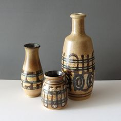 21-022 Lapid Israel Smaller Wide Mouth Vase - Ray New York Ceramic Decor, Israel, 21st, Conditioner, Pottery, York, Ceramics, Design, Ceramica