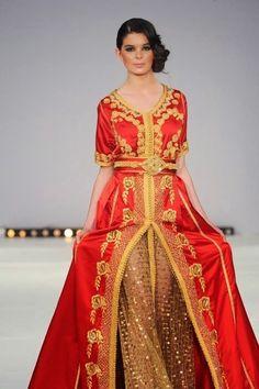 caftan marocain pas cher rouge