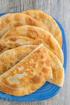 These chebureki (turnovers) have a juicy and delicious cabbage and mushroom filling. So good! They taste like egg rolls.   natashaskitchen.com
