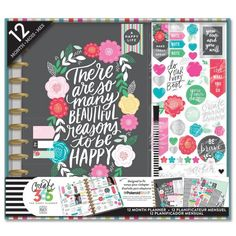 """Box kits are perfectly coordinated and include a BIG Happy Planner™ and all the planner goodies you'll need to get started planning your happy life! Each package includes:  1 undated, 12 month BIG Happy Planner™ Stickers Sticky Notes Pen Pocket Folder  Planner dimensions: Covers - 9"""" x 11.25"""" Pages - 8.5"""" x 11""""   The Happy Planner™ is an expandable, disc-bound planner system that com..."""