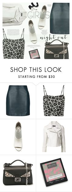 """Girls' Night Out: Summer Edition"" by katarina-blagojevic ❤ liked on Polyvore featuring Topshop, NOIR Sachin + Babi, Circus By Sam Edelman, Yigal AzrouÃ«l, Fendi, Envi, Sweet Romance and girlsnightout"