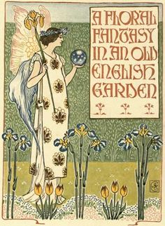 in-the-middle-of-a-daydream:  A Floral fantasy In An Old English Garden by Walter Crane (1899)