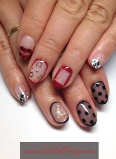 ♥Cute Nail Design♥ » Pictures of Pretty Nail Designs » Mix Design Nails by Emi Japanese Nail Design, Japanese Nails, Love Nails, Pretty Nails, Nail Designs Pictures, Different Nail Designs, Pretty Nail Designs, Nail Art, Modern