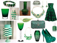 """""""Emerald Green Inspirations"""" by highglosswed on Polyvore"""