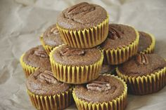 Vegan pumpkin banana muffins, gluten-free and refined sugar free