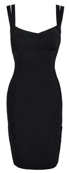 'Bordello' Lace Up Black Bodycon Dress