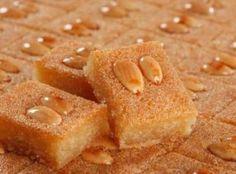 MPOWER/// Namoura - Lebanese Semolina Cake Recipe - My favorite Lebanese dessert! Lebanese Desserts, Lebanese Cuisine, Lebanese Recipes, Armenian Recipes, Armenian Food, Arabic Recipes, Arabic Dessert, Arabic Sweets, Cookies