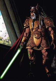 Kai Hudorra - was a male Bothan Jedi Master who served the Jedi Order and the Galactic Republic as a General in the Grand Army of the Republic during the Clone Wars. Surviving the traitorous Contingency Order 66 which effectively disbanded the Jedi Order, Master Hudorra discarded his lightsaber and went into hiding.