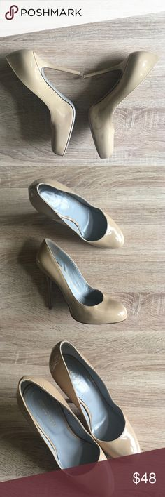 20ef8420370 Sergio Rossi Nude Patent Leather Round Toe Heels Over all good condition  size 38 Sergio Rossi Nude Pumps. They got some sort of staining on them