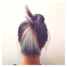 (114) rainbow hair | Style file | Pinterest ❤ liked on Polyvore featuring beauty products, haircare and hair styling tools