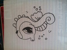 Kyah Troyer's drawing of the sea Horse, Thx to Fun2Draw