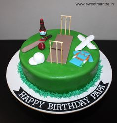 Order, Send Cricket, Sports Cake delivery Pune   Sweet Mantra Cricket Birthday Cake, Cricket Cake, 3d Cakes, Fondant Cakes, Cupcake Cakes, Engagement Cakes, Wedding Engagement, Sports Theme Birthday, Sport Cakes